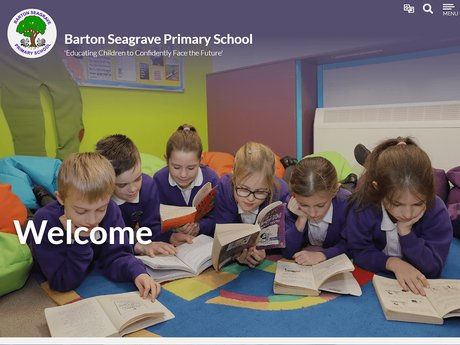 New Website Designed For Barton Seagrave Primary School