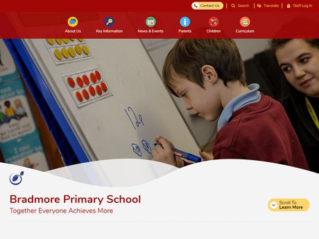 Bradmore Primary School Website Design