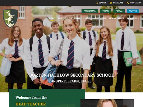 Burton Hathlow Secondary School Website Design