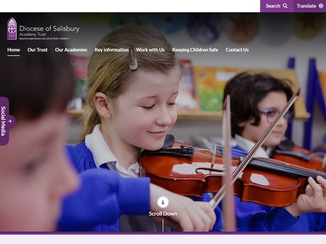 Diocese of Salisbury Academy Trust Website Design