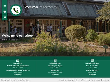 New Website Design For Greenwood Primary School