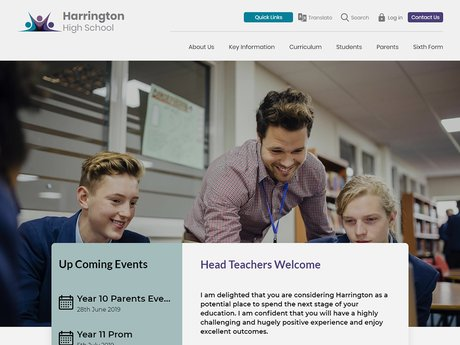 Website Design For Harrington High School