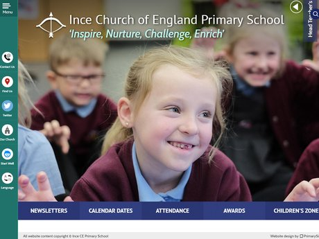 New Website Designed For Ince Church of England Primary School