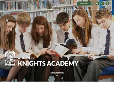 New Website Designed For Knights Academy