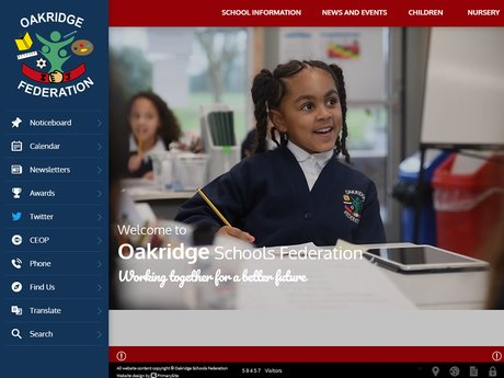 Website Design For Oakridge Schools Federation