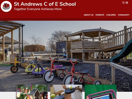 New Website Designed For St Andrews C of E School