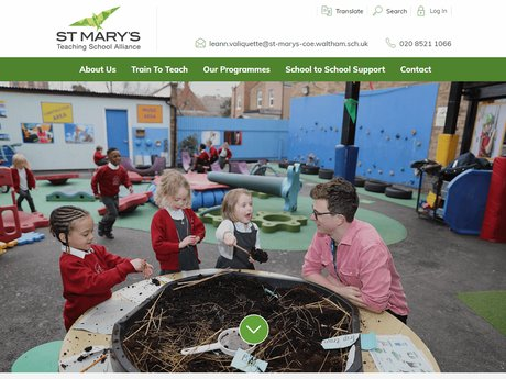 St Mary's Teaching School Alliance Website Design