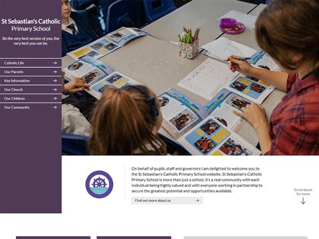 Website Design For St Sebastian's Catholic Primary School