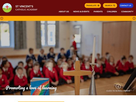 New Website Design For St Vincent's Catholic Academy