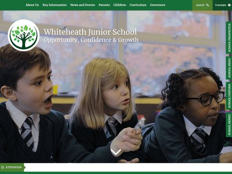 New Website Designed For Whiteheath Junior School