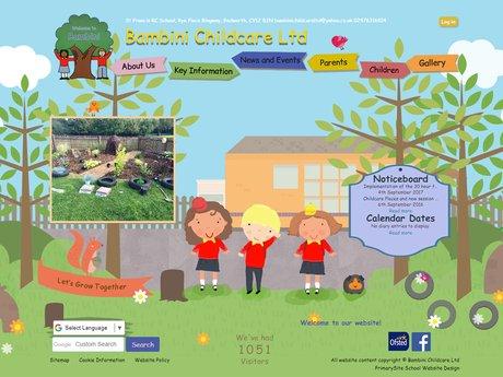 Bambini Child Care Website Design