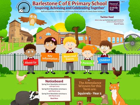 Barlestone C of E Primary School Website Design