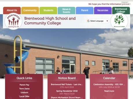 Website Design For Brentwood High School