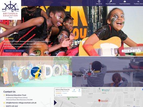 Britannia Education Trust Website Design
