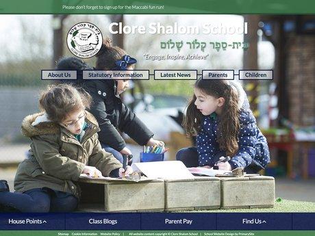 Clore Shalom School Website Design
