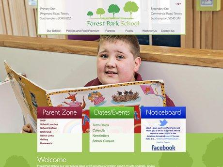 Forest Park Primary Website Design