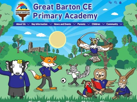 Great Barton CE Primary Academy Website Design