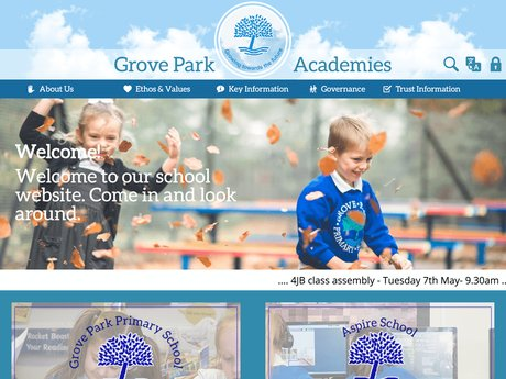 Grove Park Academies Website Design