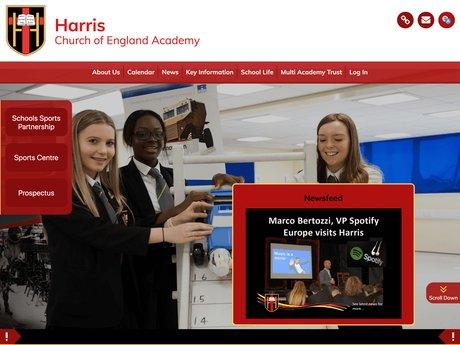 Website Design For Harris Church of England Academy