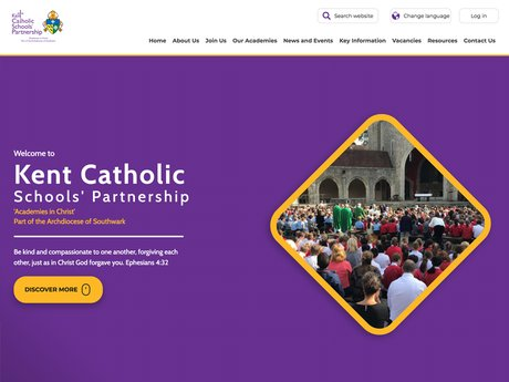 Website Design For Kent Catholic Schools Partnership