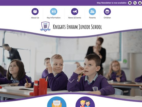 New Website Designed For Knights Enham Junior School