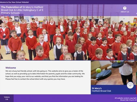 Website Design For The Federation of Little Hallingbury & St Mary's Hatfield
