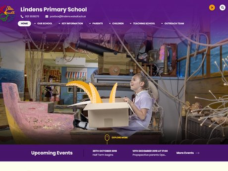 Lindens Primary School Website Design