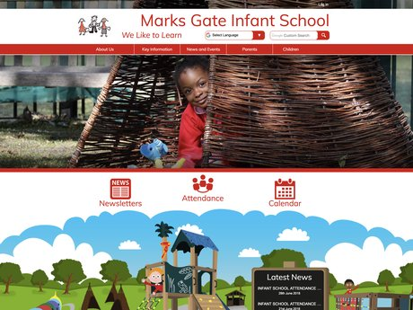 New Website Designed For Marks Gate Infant School