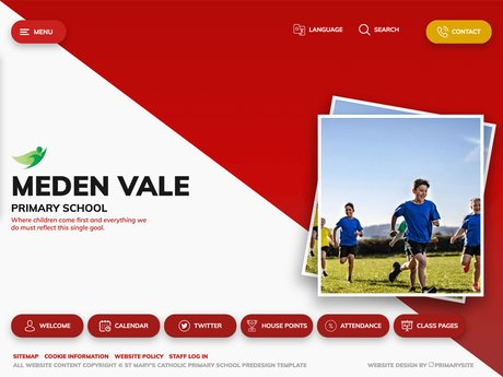 New Website Design For Meden Vale Primary School