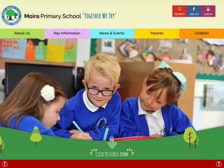 Website Design For Moira Primary School
