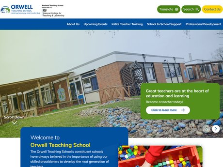 New Website Designed For Orwell Teaching School