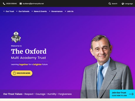 Website Design For The Oxford Multi Academy Trust