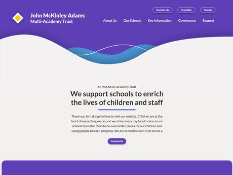 Website Design For John McKinley Adams Multi-Academy Trust