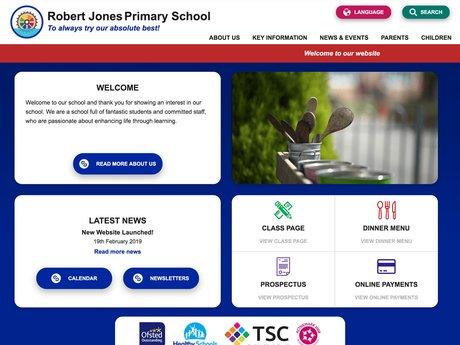New Website Designed For Robert Jones Primary School