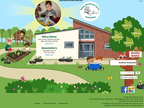 Rowley View Nursery School Website Design