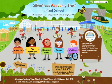 Website Design For Silvertrees Academy Trust Infant School
