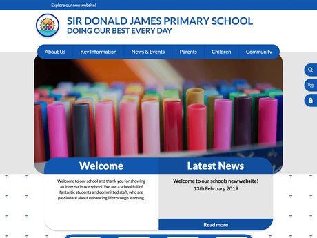 Website Design For Sir Donald James Primary School