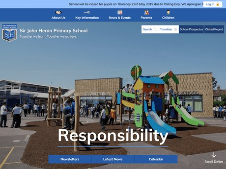 New Website Designed For Sir John Heron Primary School