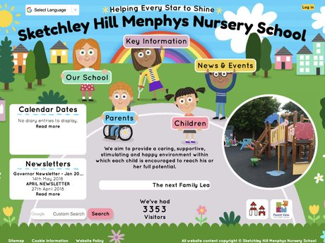 New Website Design For Sketchley Hill Menphys Nursery School