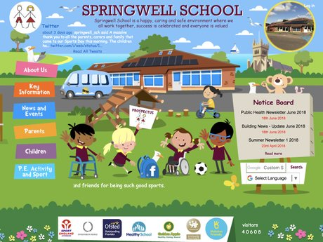 New Website Designed For Springwell School