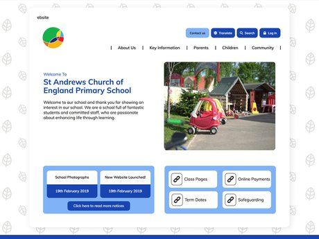 Website Design For St Andrews Church of England Primary School