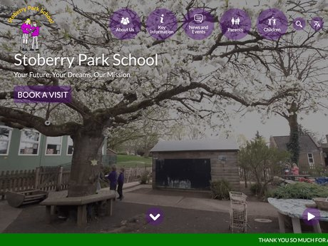 New Website Designed For Stoberry Park School