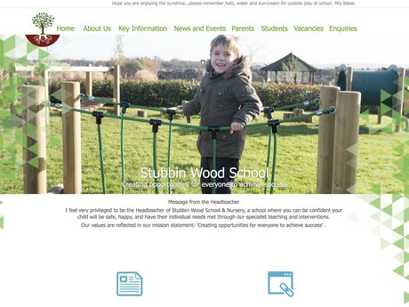 New Website Designed For Stubbin Wood School