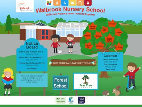 Walbrook Nursery School Website Design