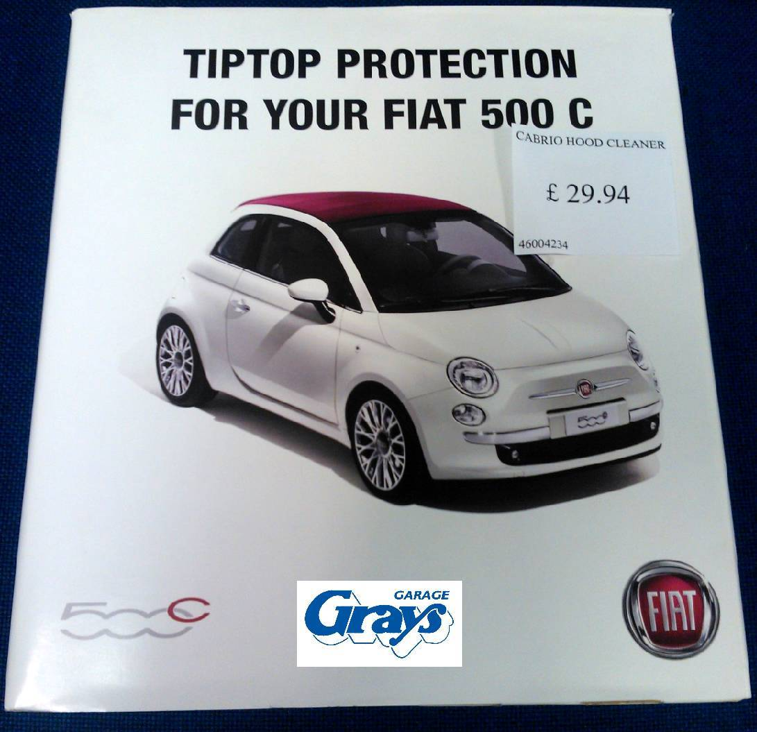 Fiat 500C Roof Cleaner