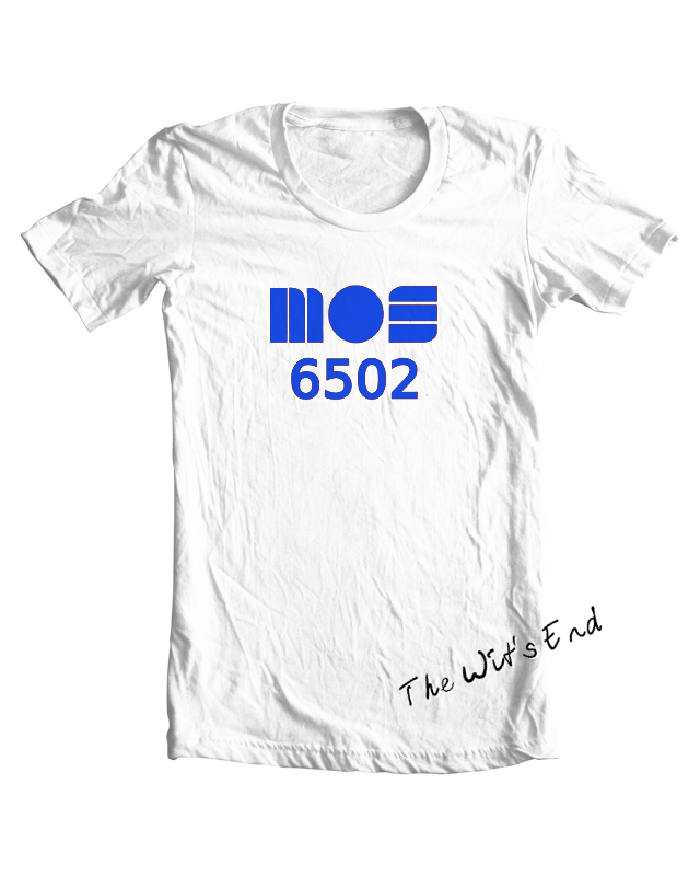 MOS 6502 tee shirt example
