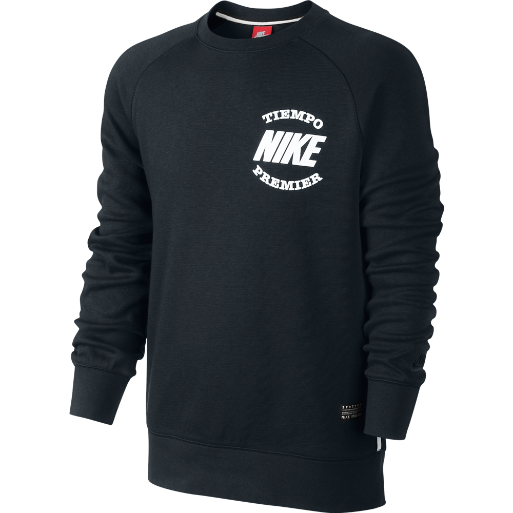 nike sweatshirt aw77 tiempo black white www. Black Bedroom Furniture Sets. Home Design Ideas