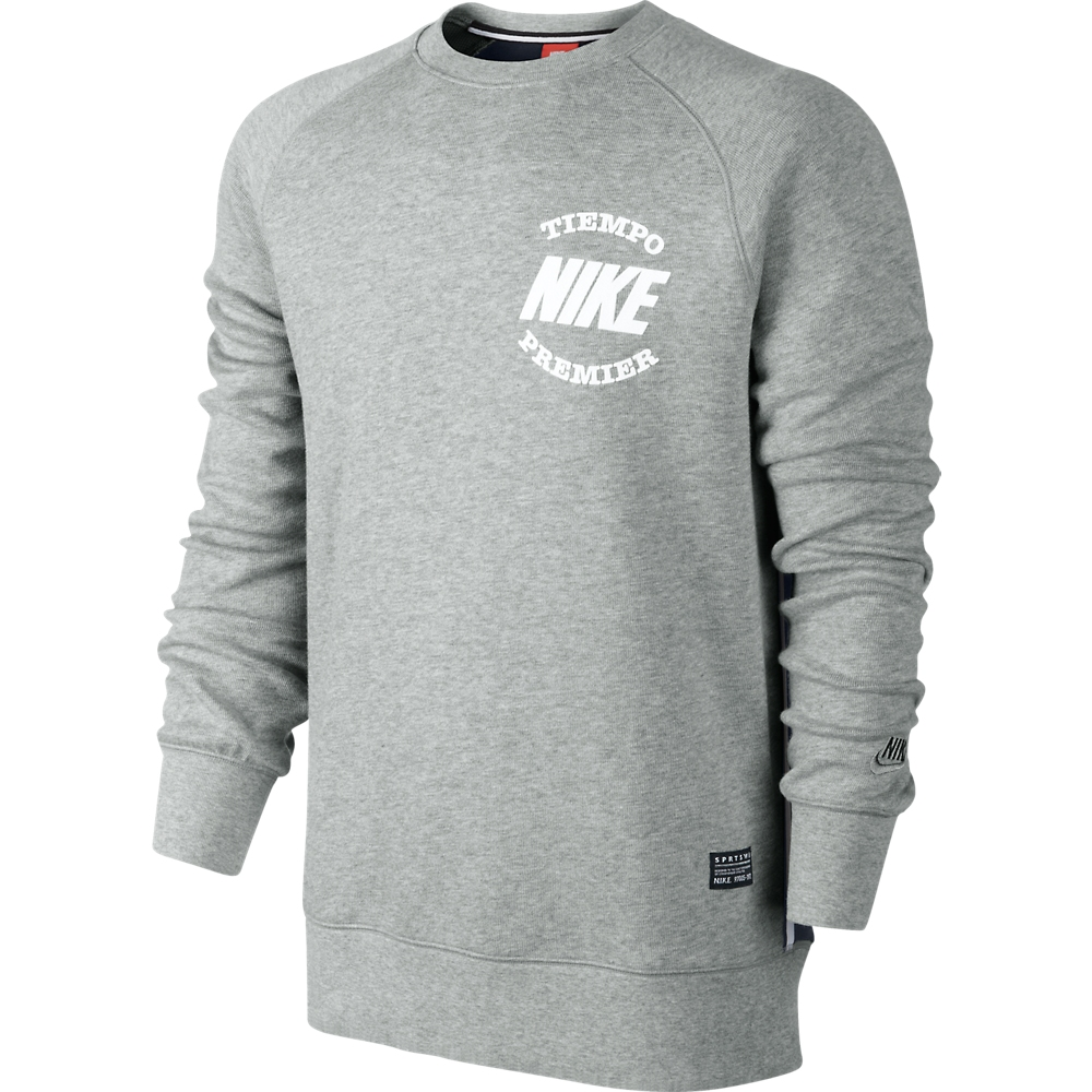 nike sweatshirt aw77 tiempo dark grey heather dark. Black Bedroom Furniture Sets. Home Design Ideas