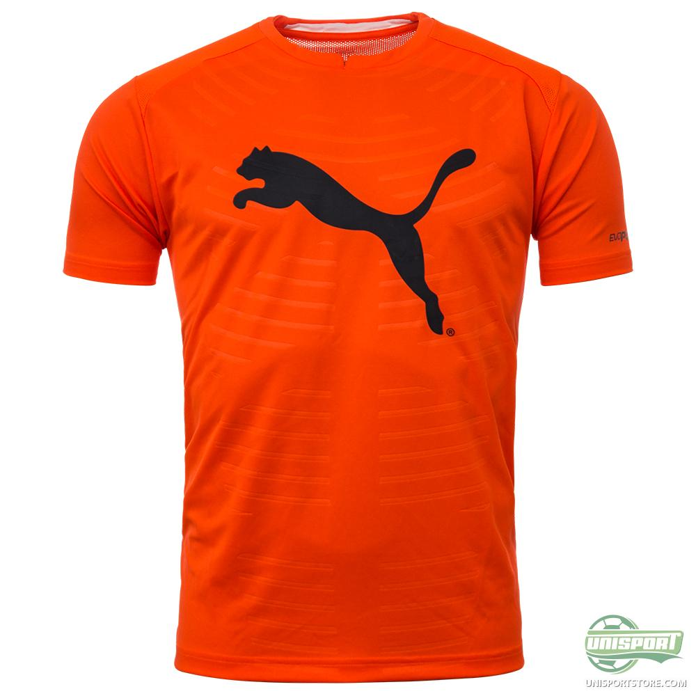 puma training tshirt evopower graphic orangegrey kids