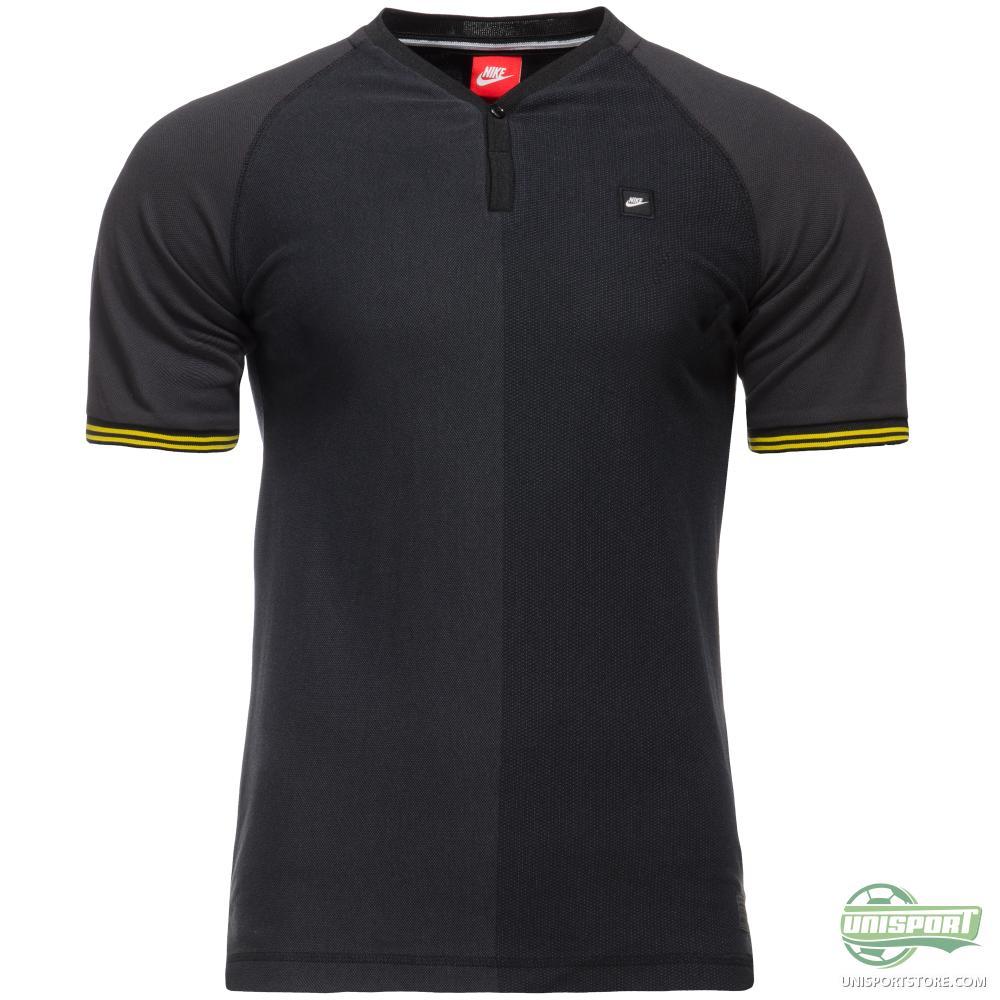 Nike T Shirt Y Neck Henley Black White Www